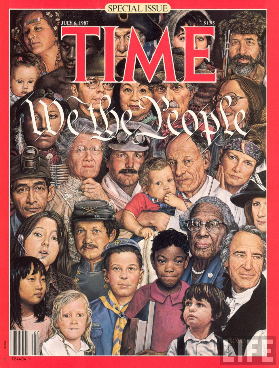 cover of Time Magazine photo of immigrants
