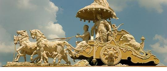 Krishna and Arjuna in chariot