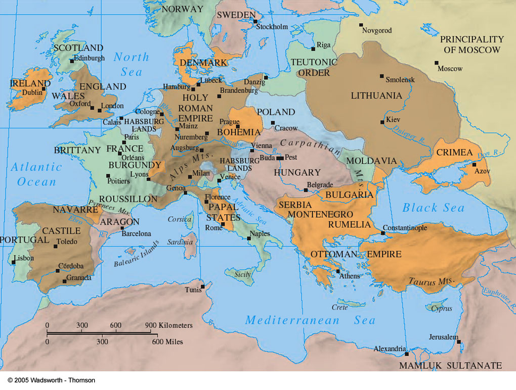 Institute of world culture study groups click here for a printer friendly map of renaissance europe gumiabroncs Images